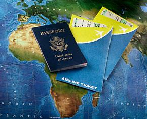Самолетни билети, паспорт