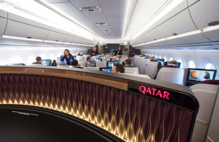 Airbus A350-900 на Qatar-Airways