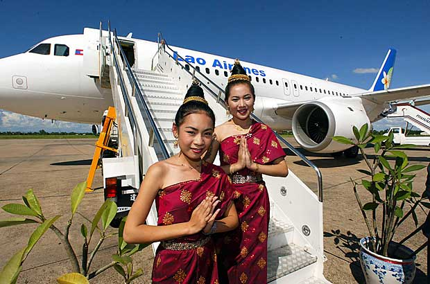 Lao Airlines Stewardess
